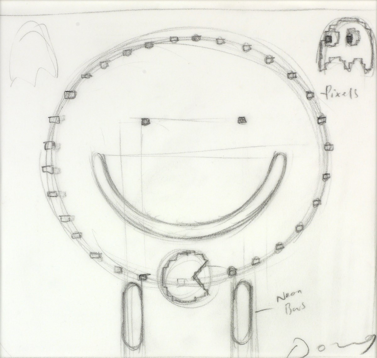 Pac-Man (Study VI) by doug hyde -  sized 7x8 inches. Available from Whitewall Galleries